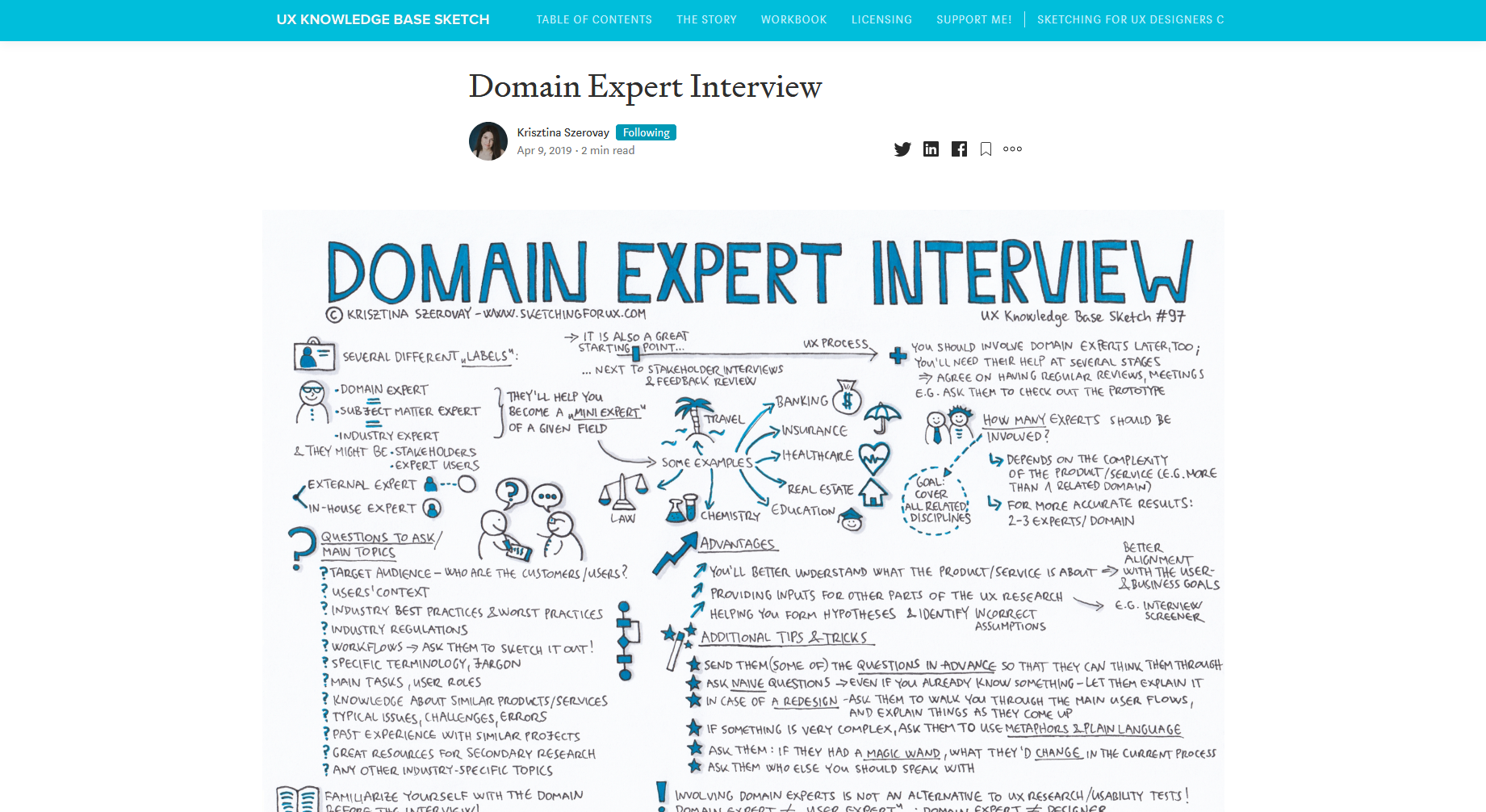 Domain Expert Interview — UX Knowledge Base Sketches