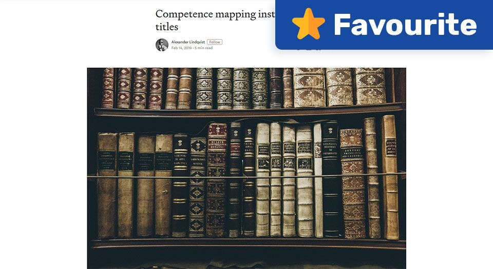 Competence Mapping Instead of Design Titles