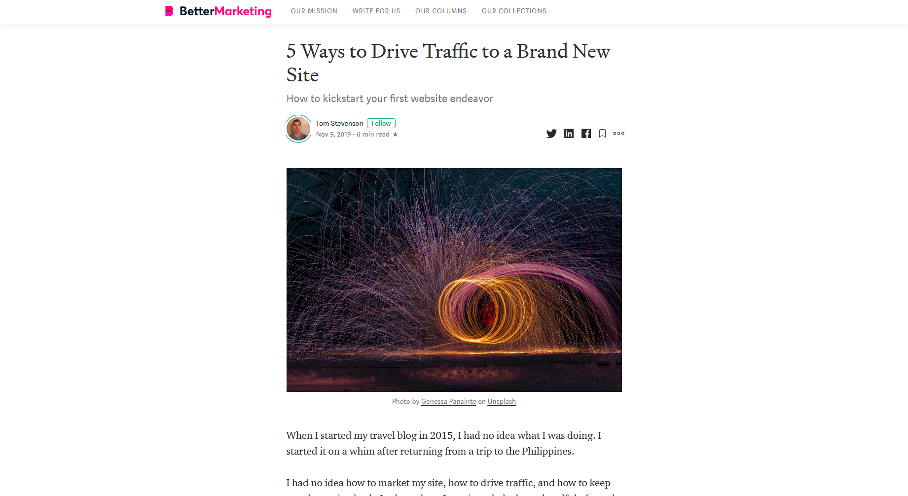5 Ways to Drive Traffic to a Brand New Site