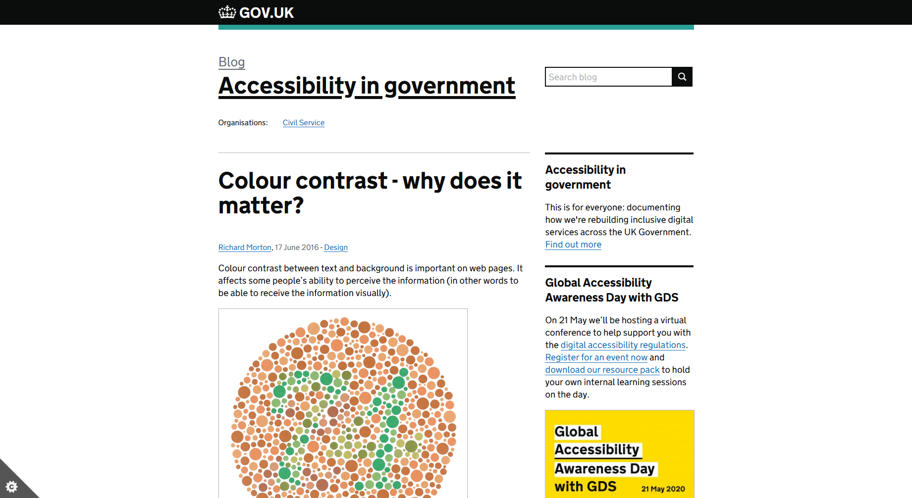 Colour Contrast - Why Does It Matter? — GOV.UK