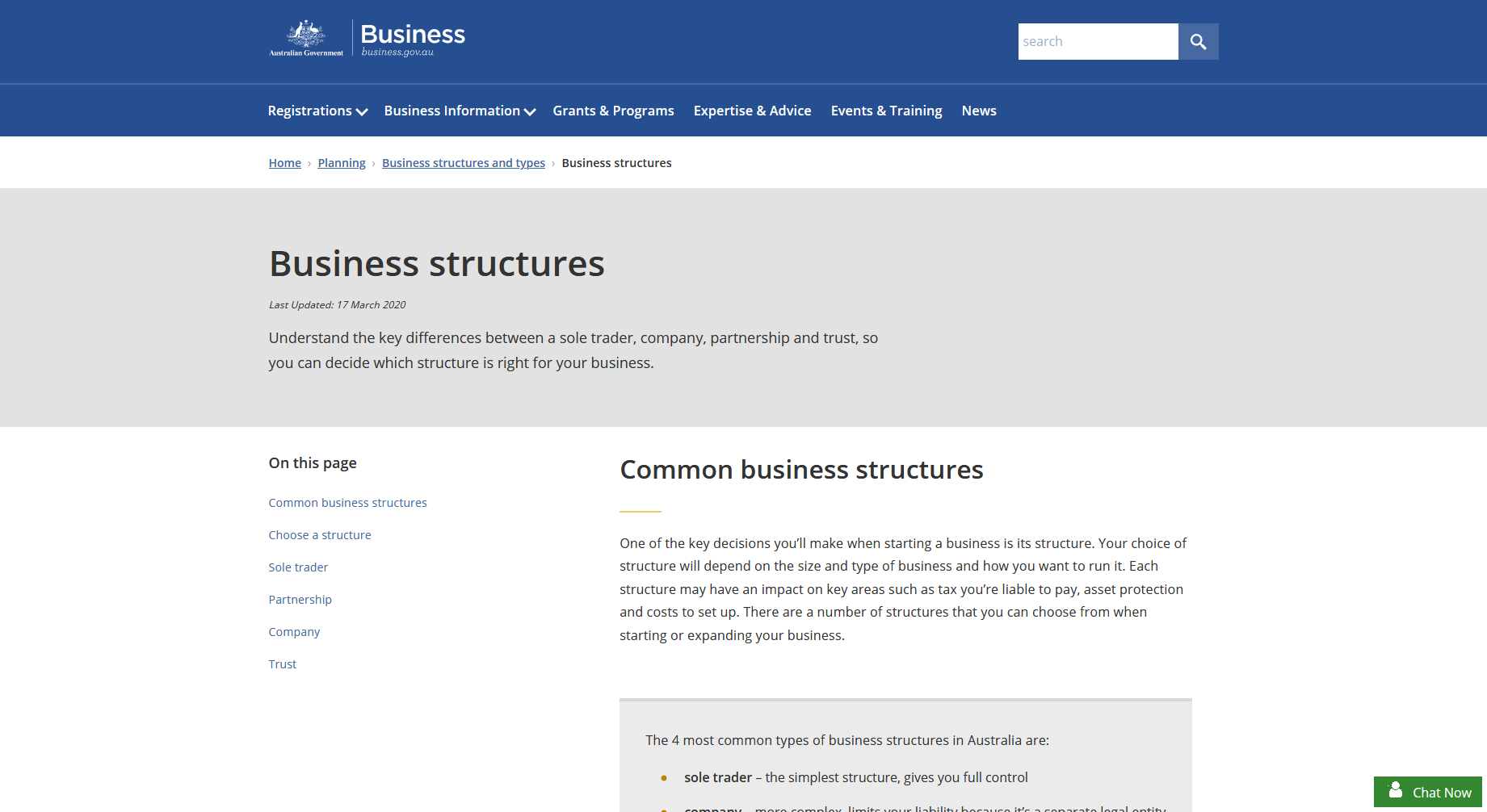 Business Structures in Australia