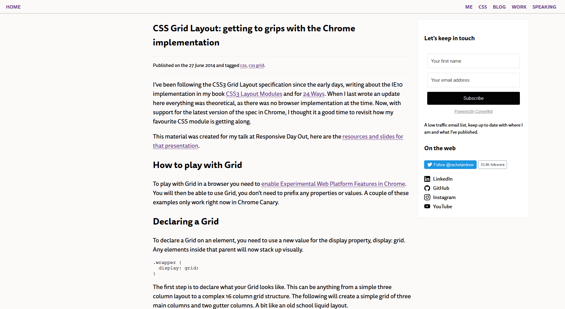 CSS Grid Layout: Getting to Grips With the Chrome Implementation