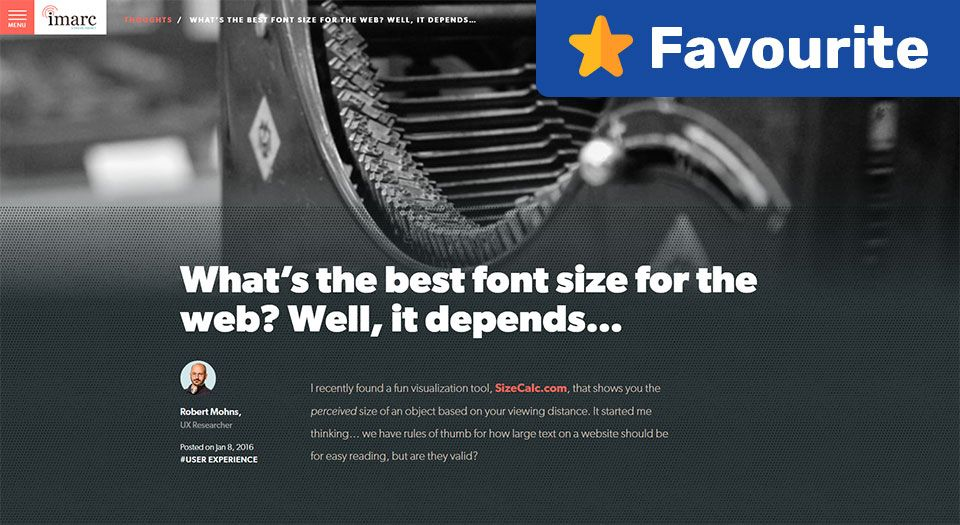 What's the Best Font Size For the web? Well, It Depends… — Imarc