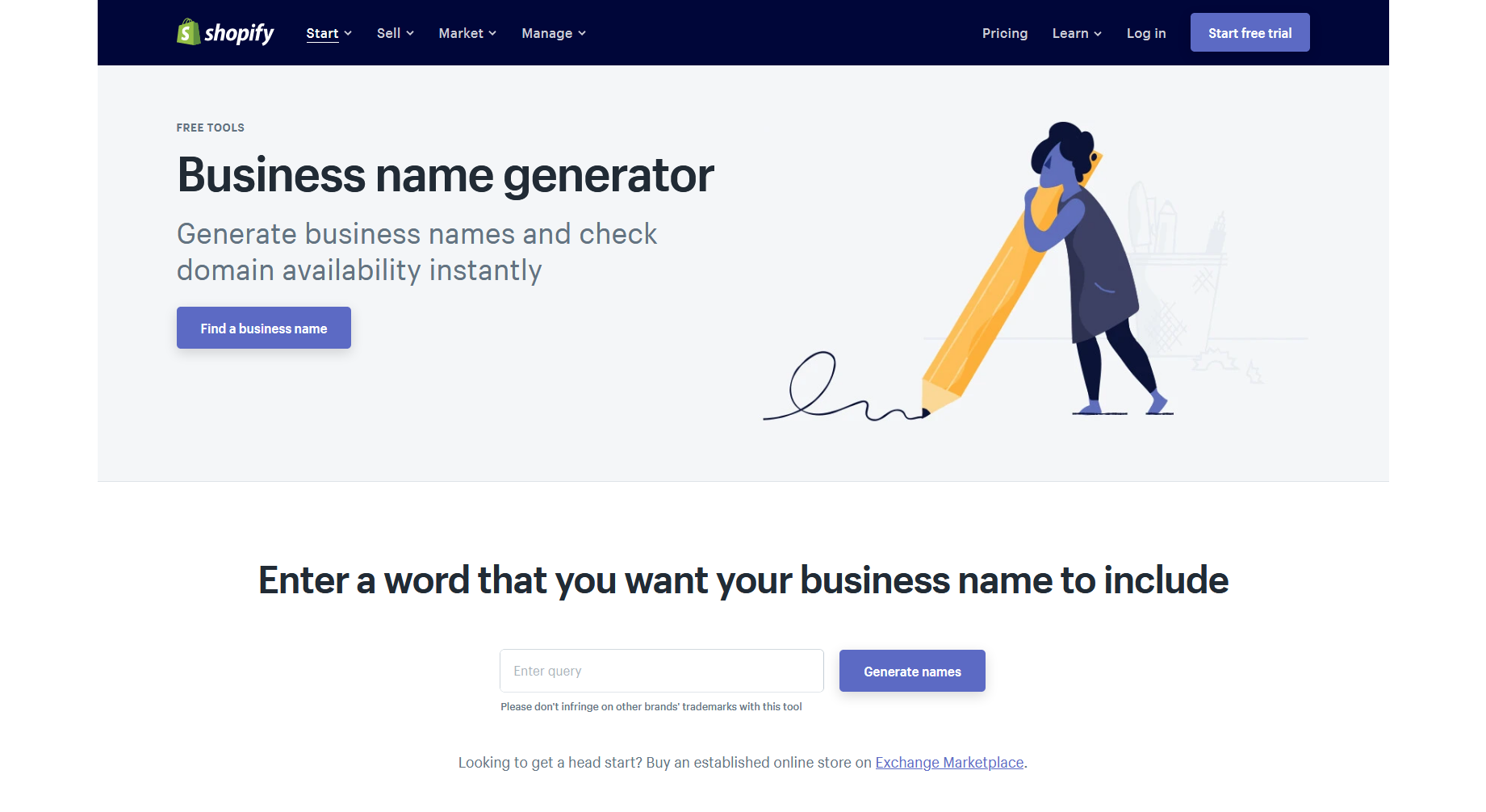 Business Name Generator — Shopify
