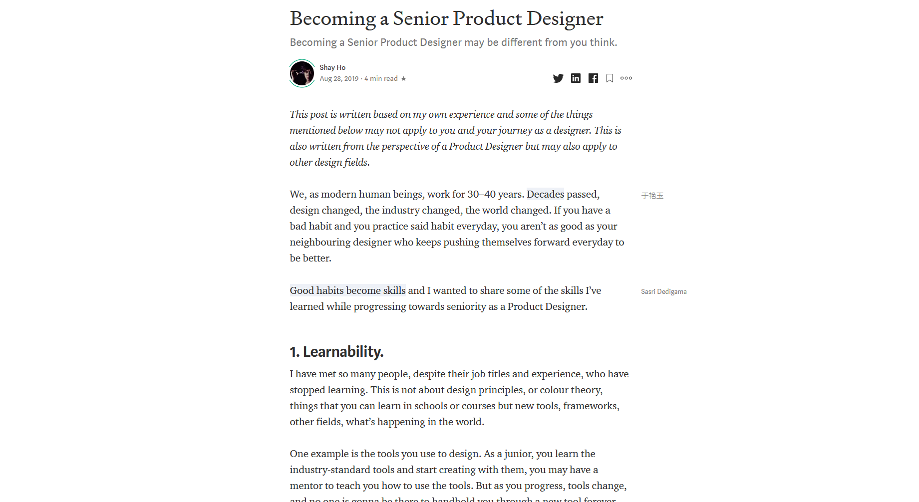 Becoming a Senior Product Designer