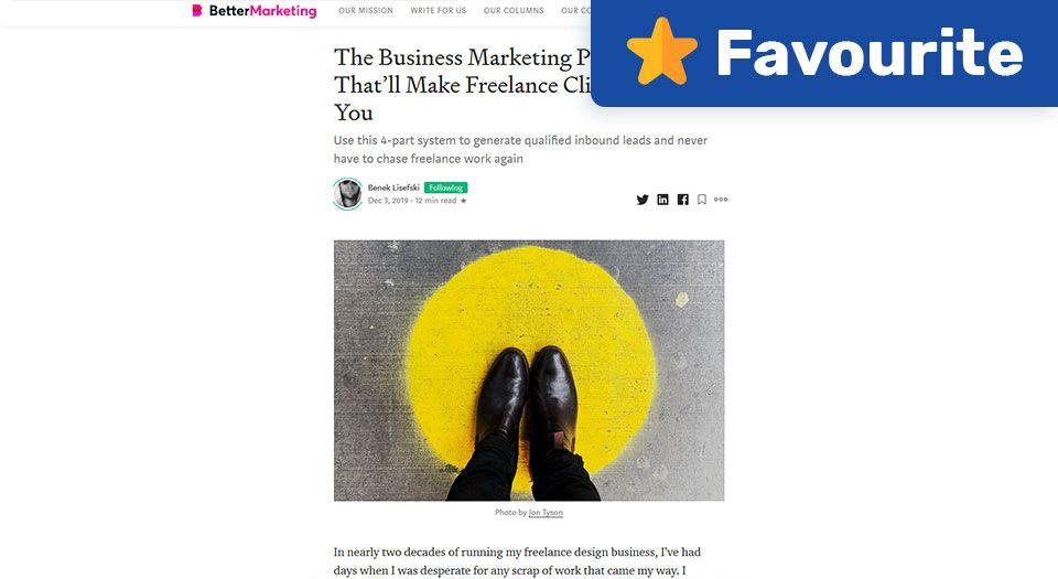 The Business Marketing Pyramid That'll Make Freelance Clients Come to You