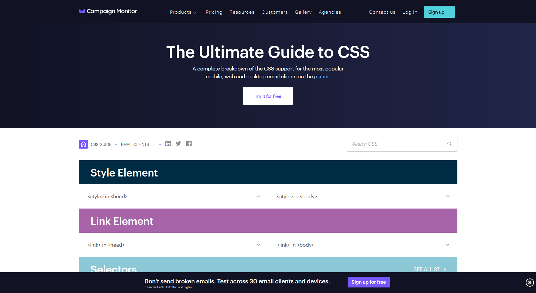 CSS Support Guide for Email Clients