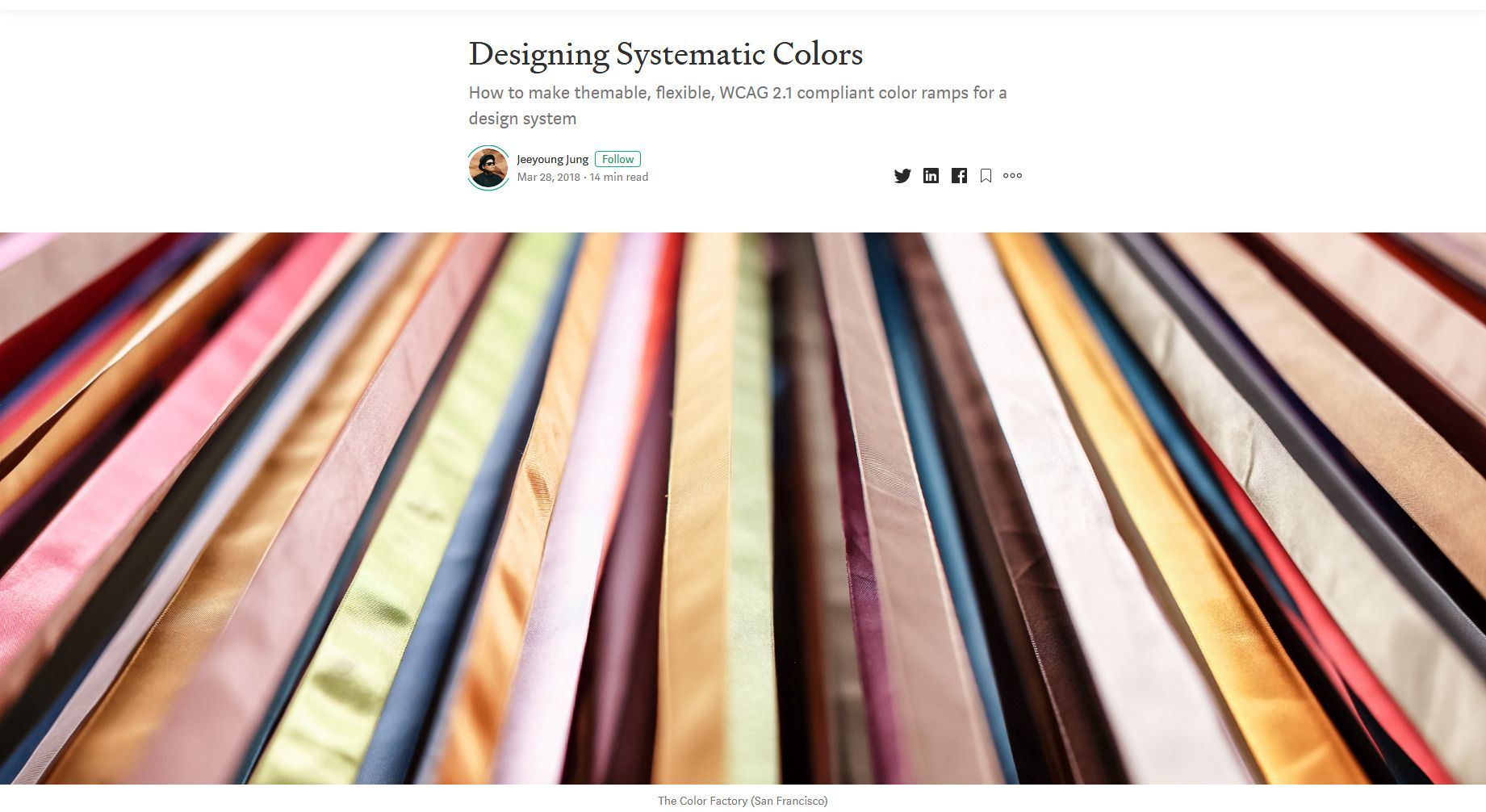 Designing Systematic Colors