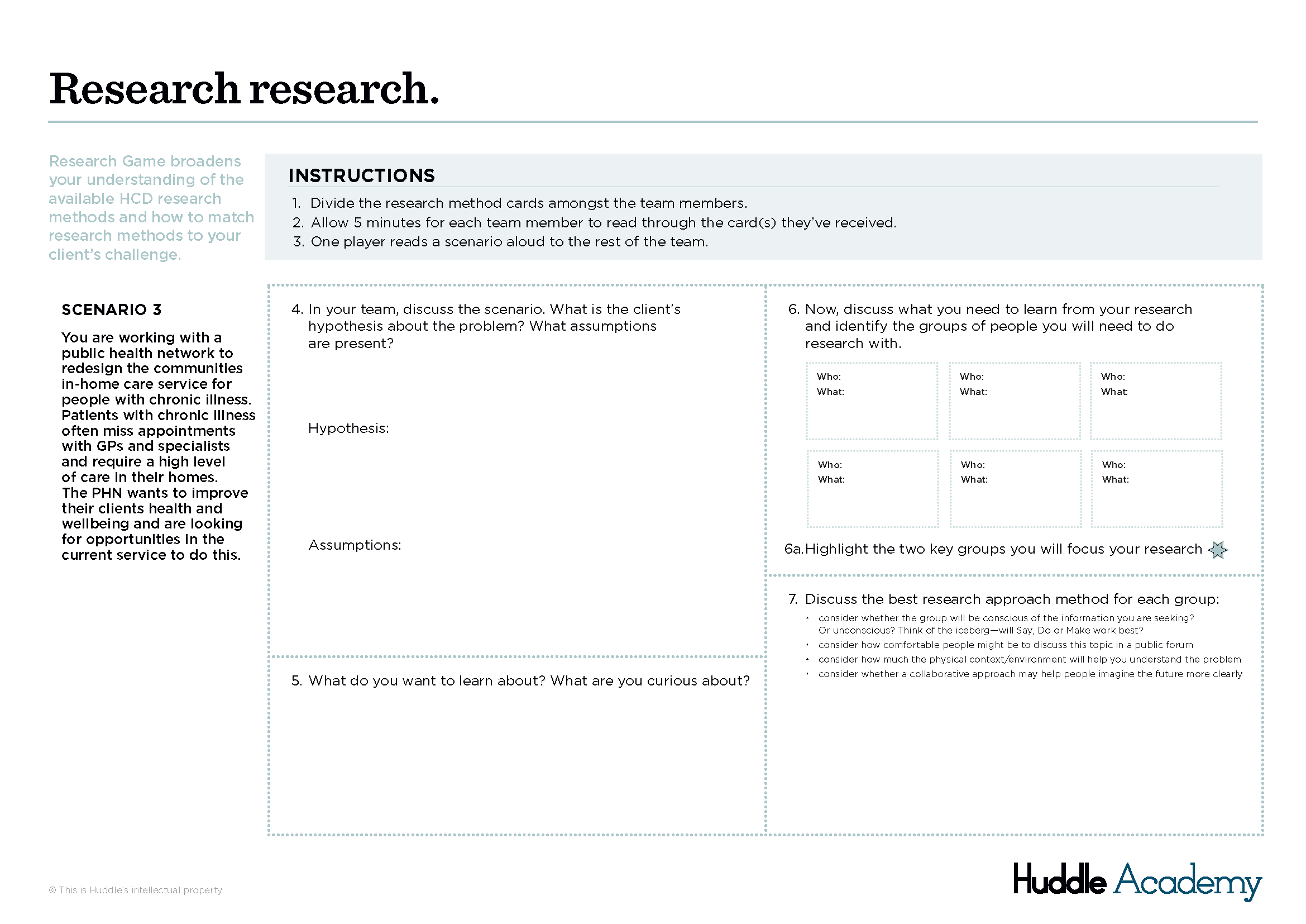 Research Research Game