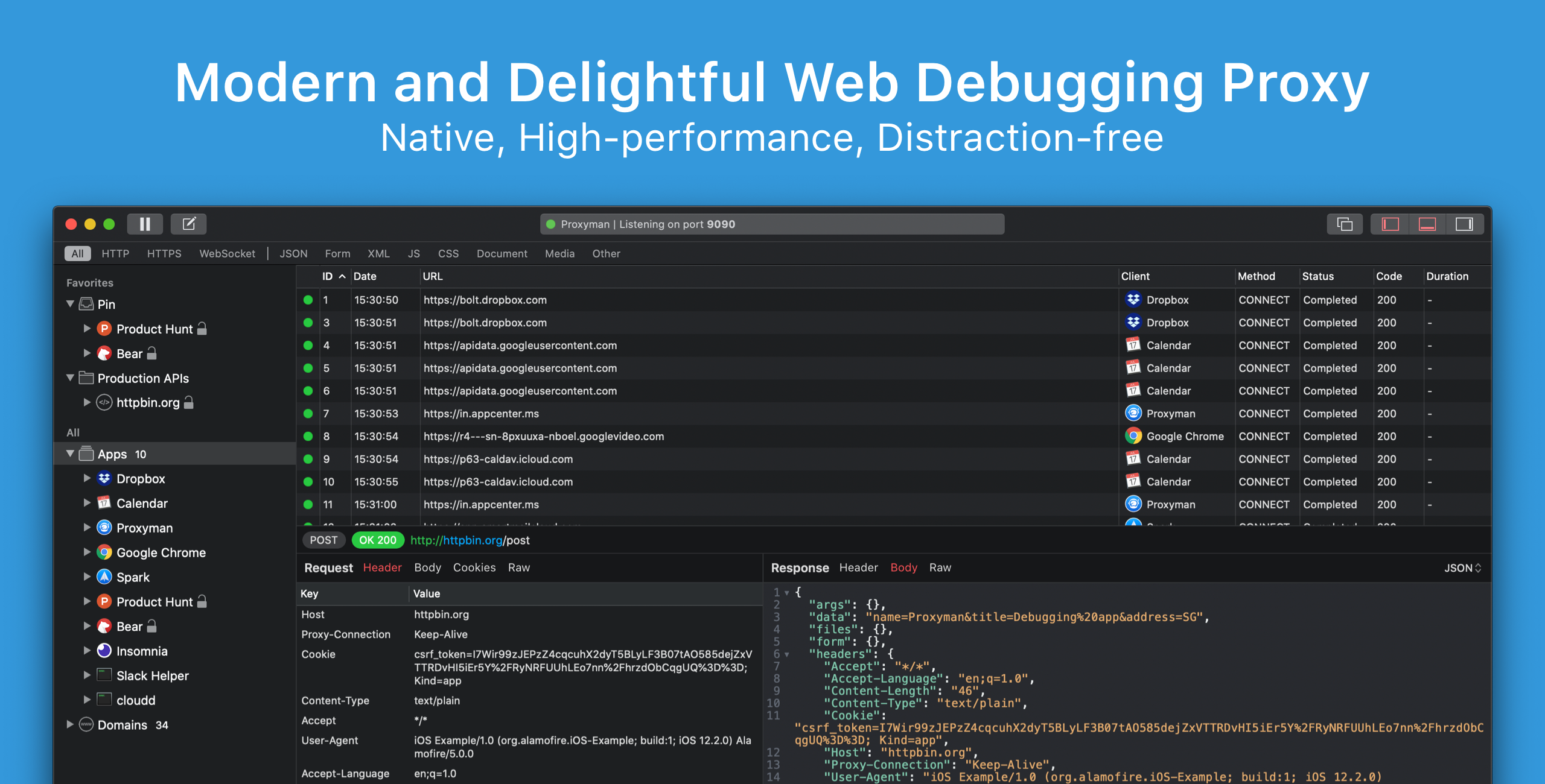 Proxyman * Modern Web Debugging Proxy on macOS, iOS, Android devices and iOS Simulator