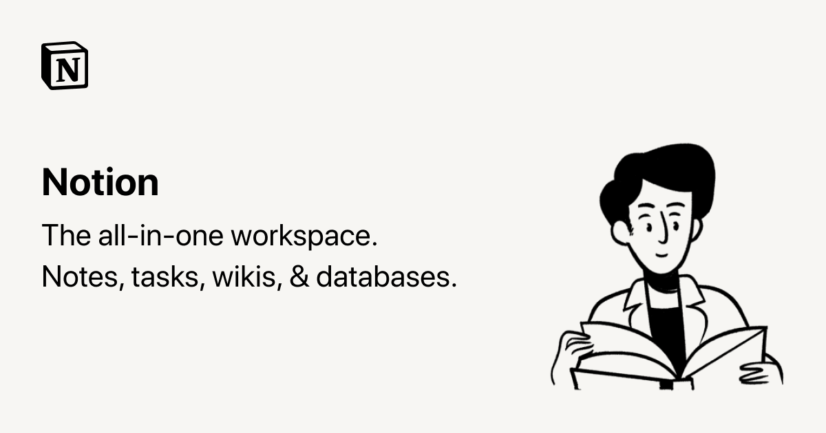 Notion - The all-in-one workspace for your notes, tasks, wikis, and databases.