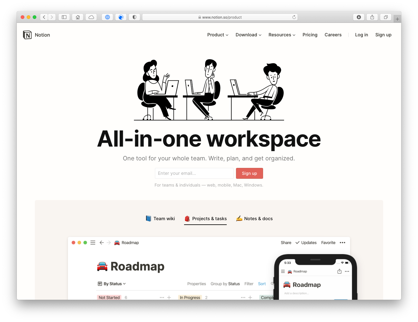 Notion is an all-in-one workspace that's