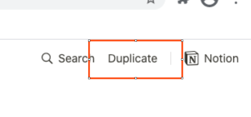 Click Duplicate in the top right-hand corner.