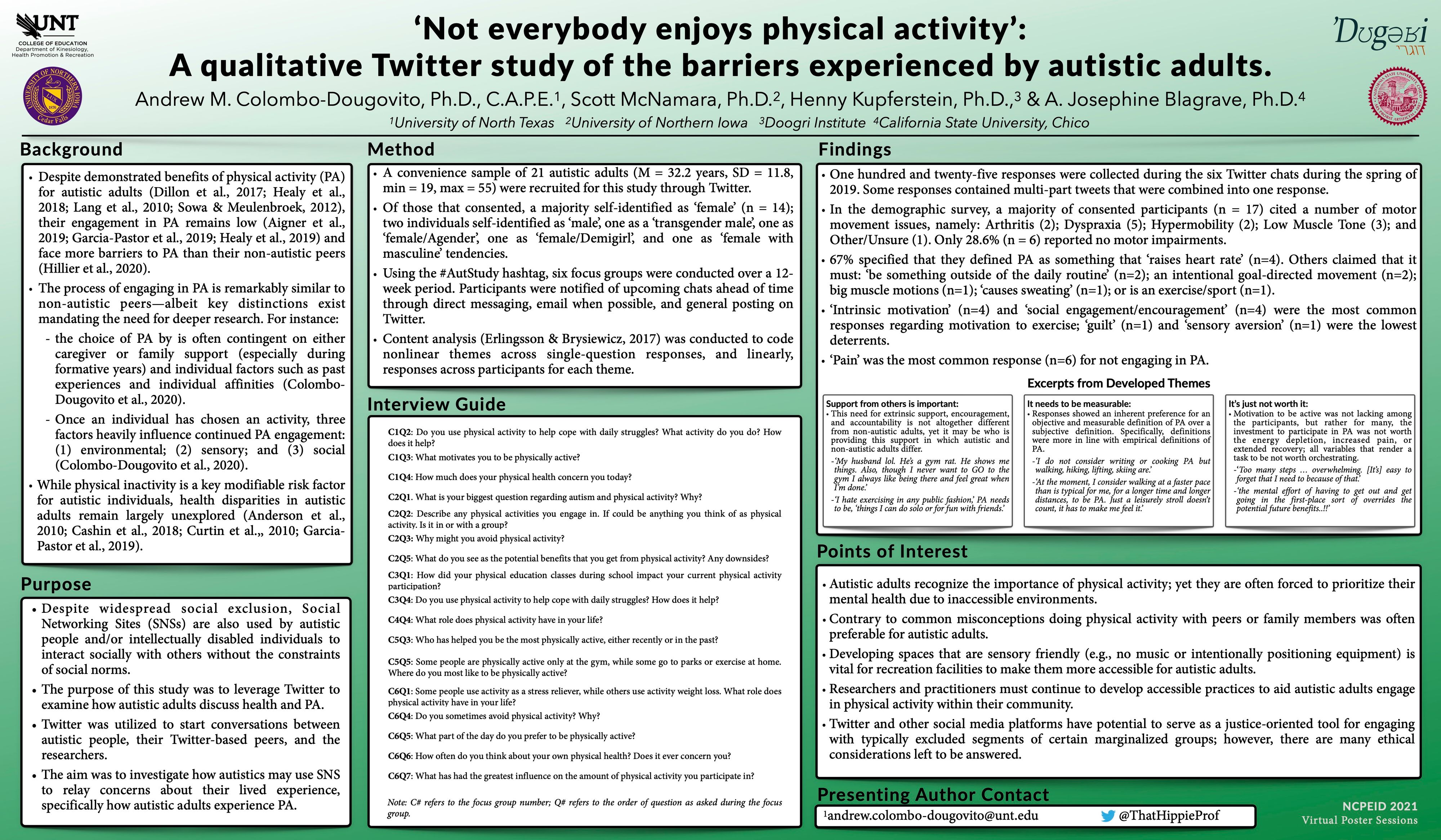 'Not everybody enjoys physical activity': A qualitative Twitter study of the barriers experienced by autistic adults