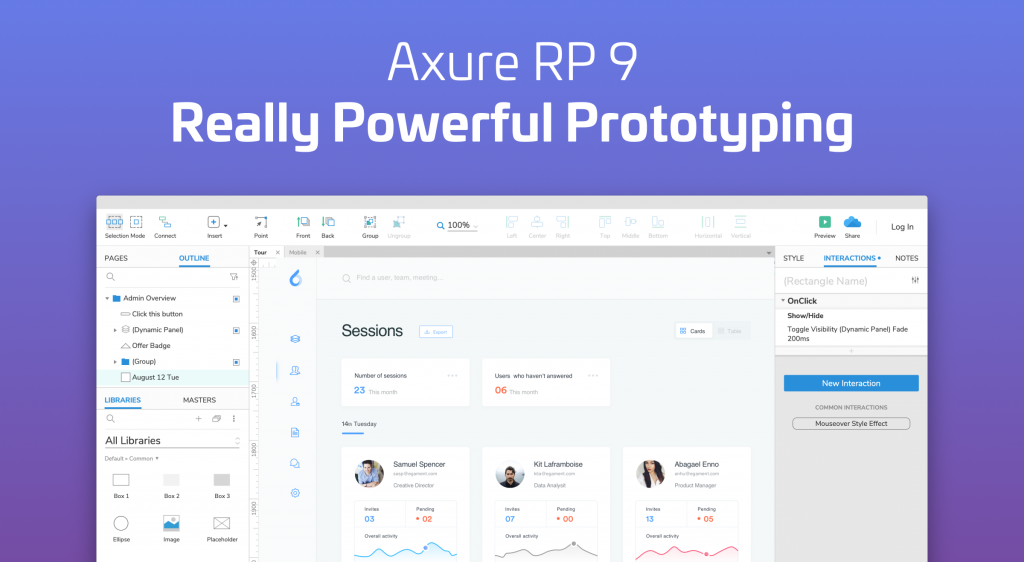 Axure RP 9 - Prototypes, Specifications, and Diagrams in One Tool