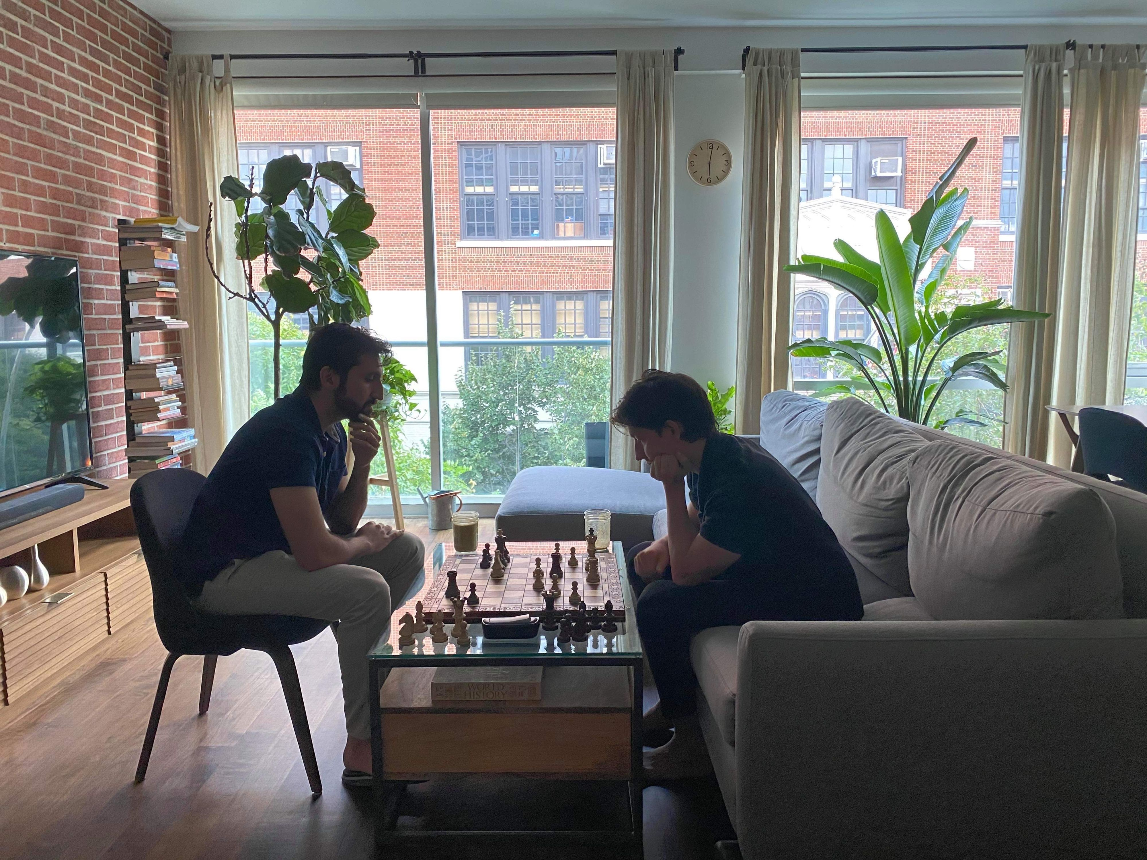 Most days our founders take a chess break.