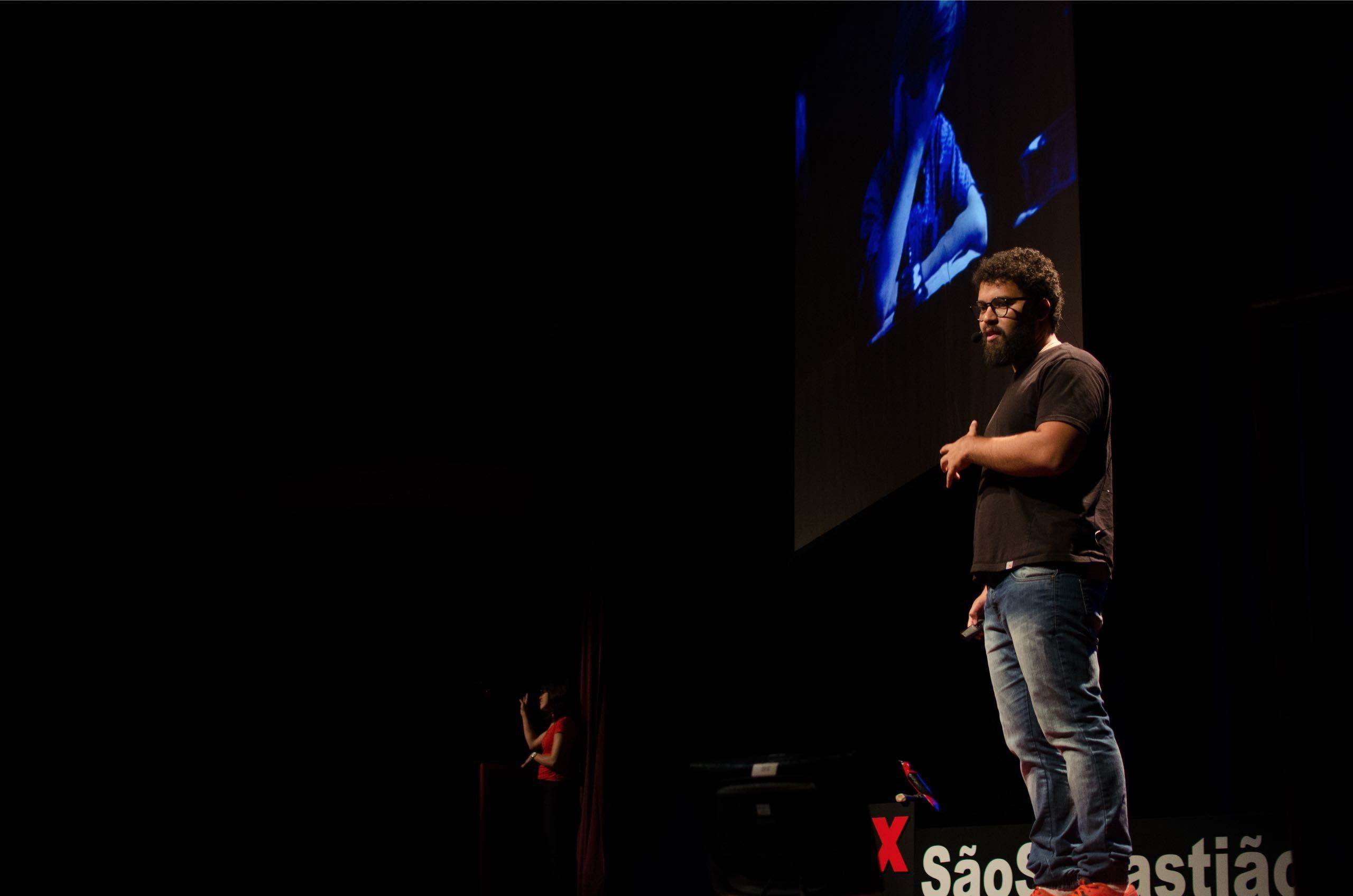 TEDx stage where I talked about the relationship between Design+Education and Technology -