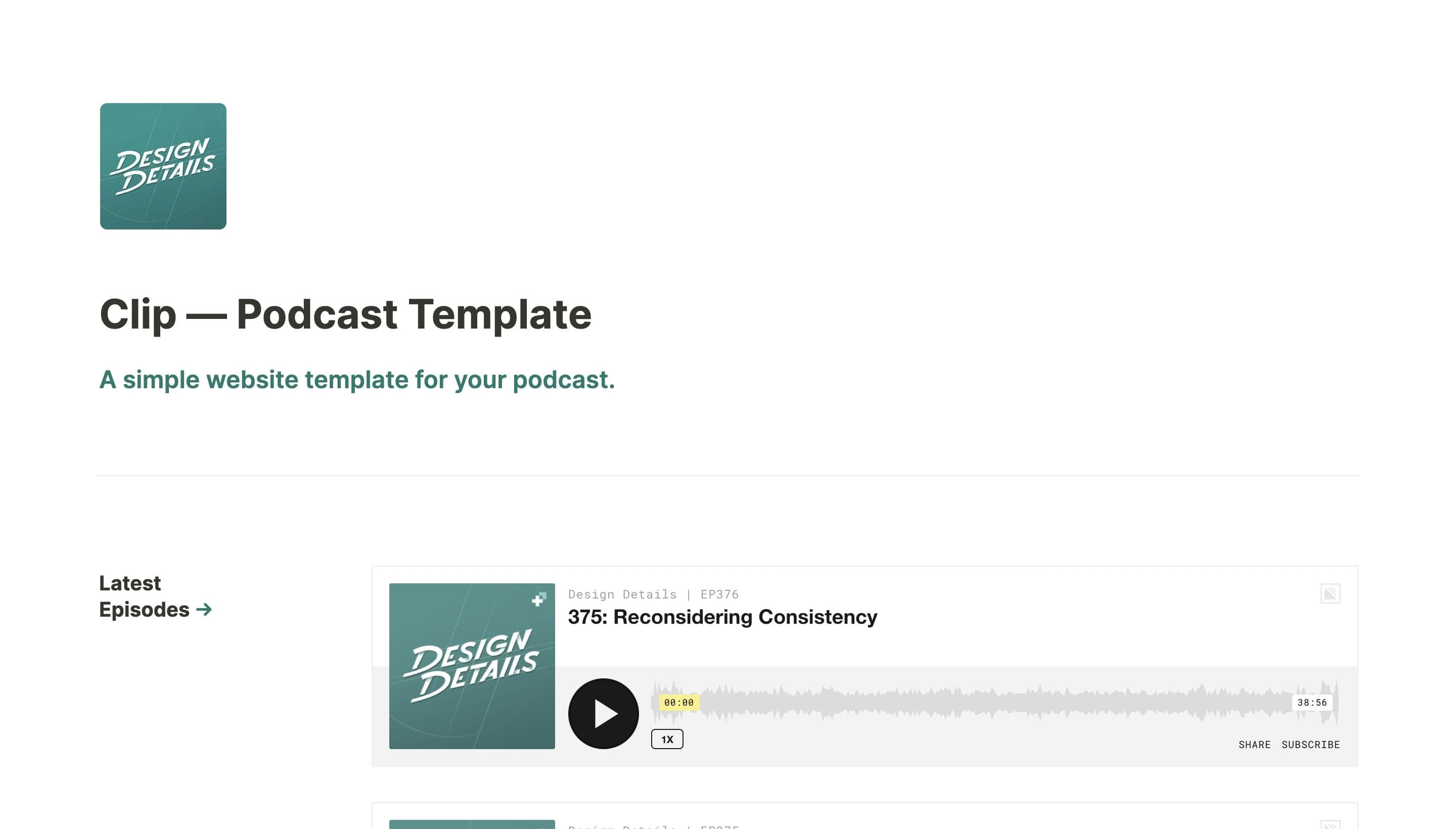 Clip — Podcast Template
