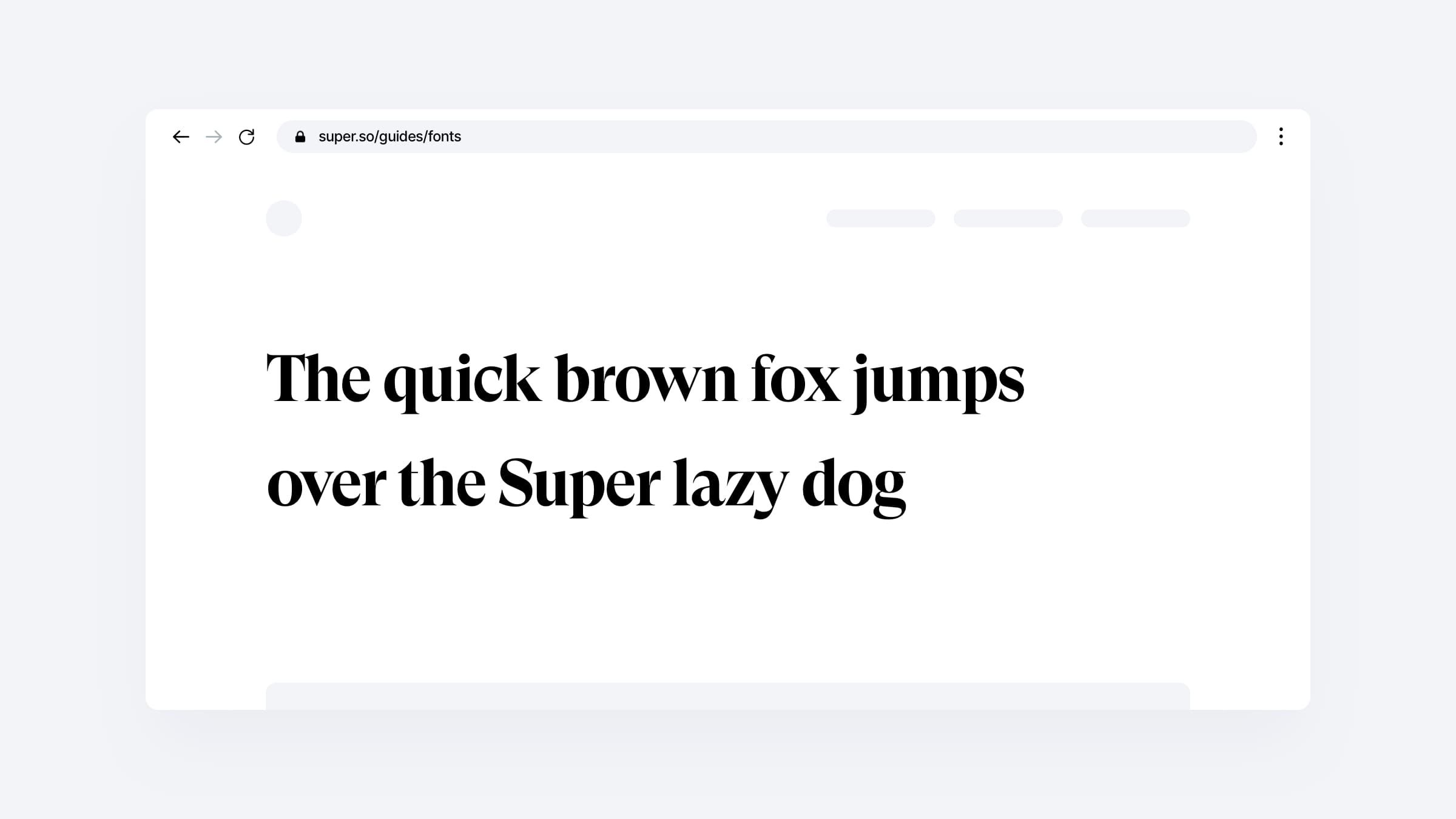 Add custom fonts to your Super site