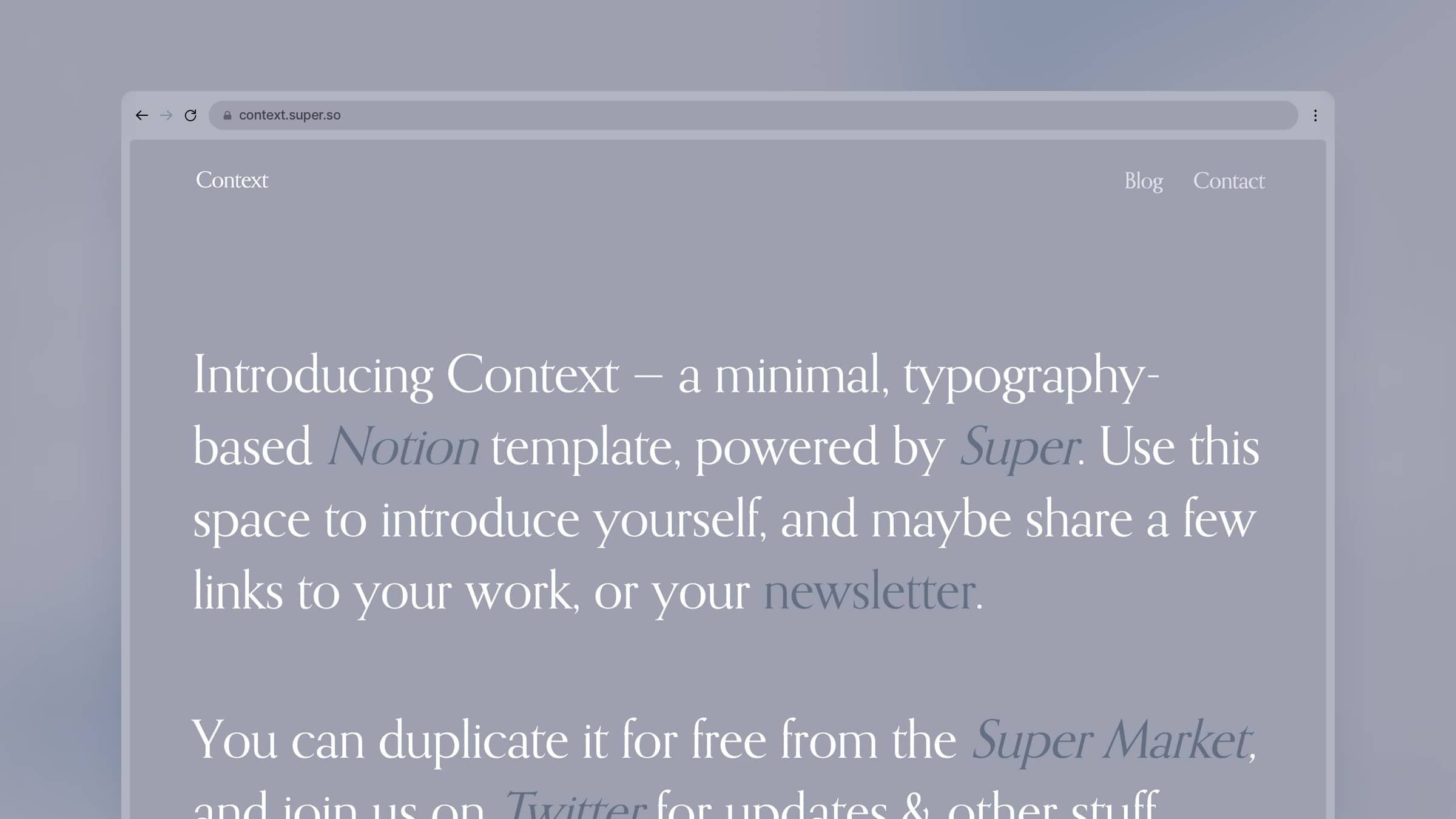 Typography-Based Site Template