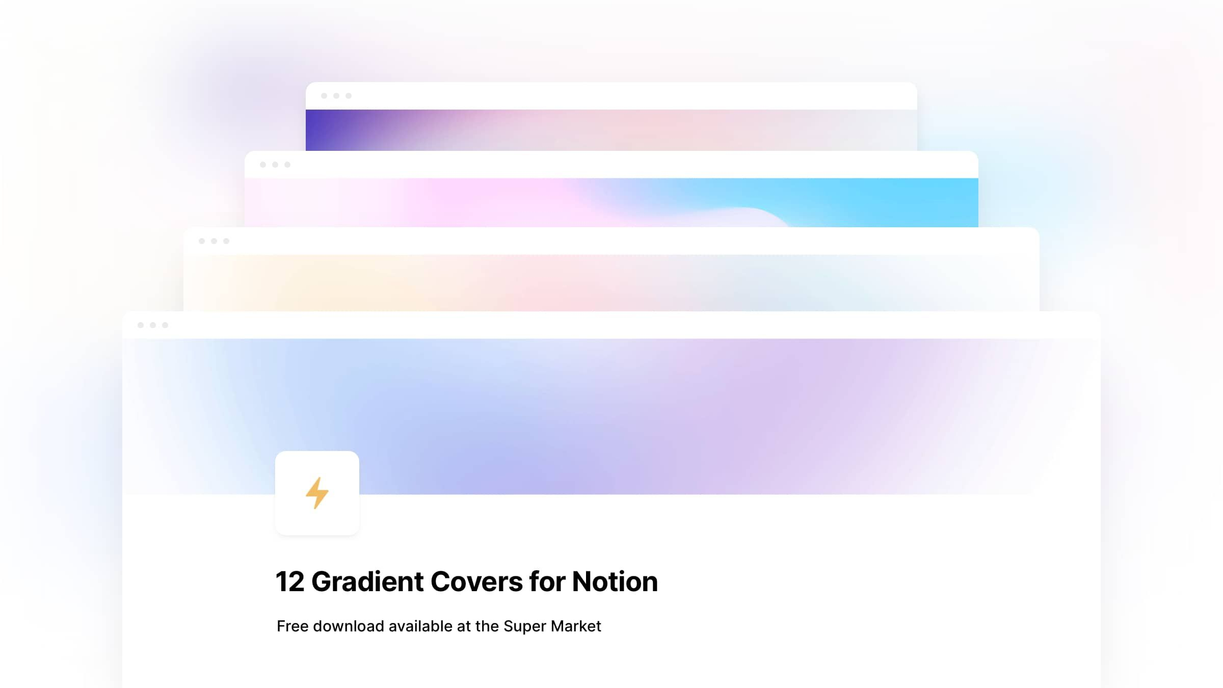 12 Gradient Covers for Notion