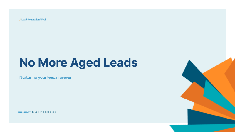 No More Aged Leads - LGW