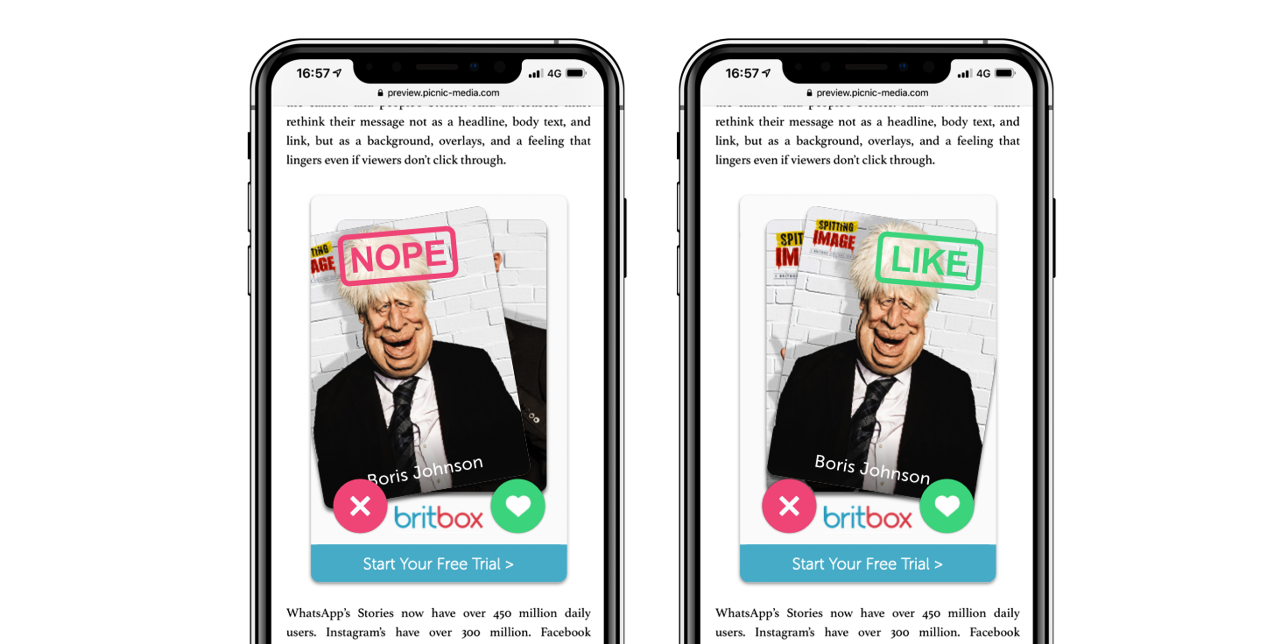 Total Media Launches BritBox's Spitting Image with New Mobile Format