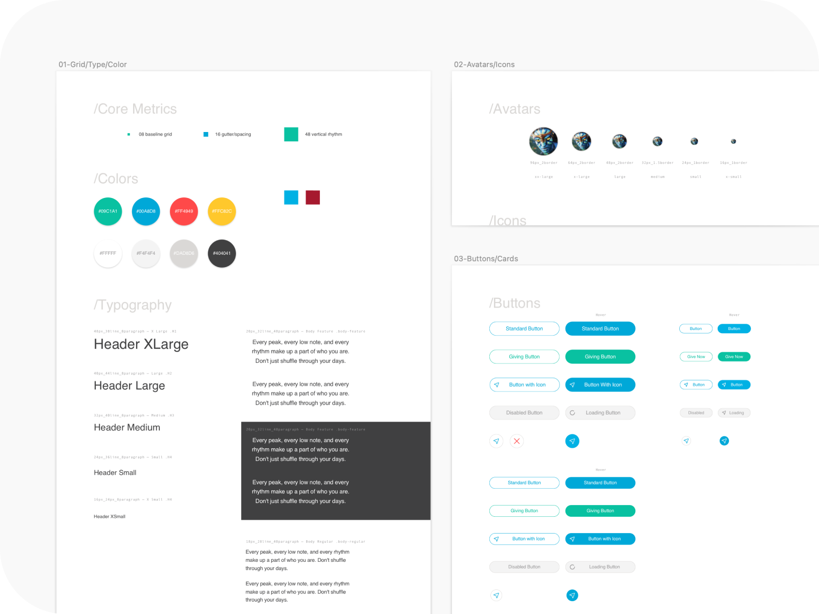 By 2017 the Attender design system had started to evolve and function like a system.