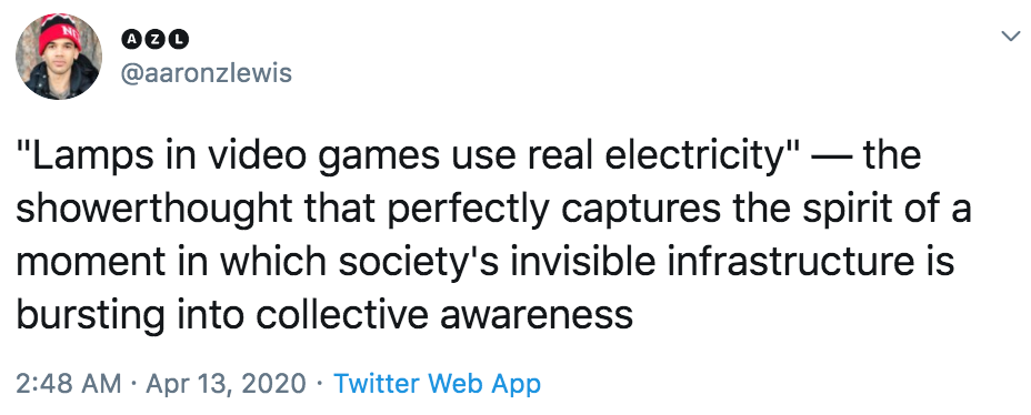 Lamps in video games use real electricity