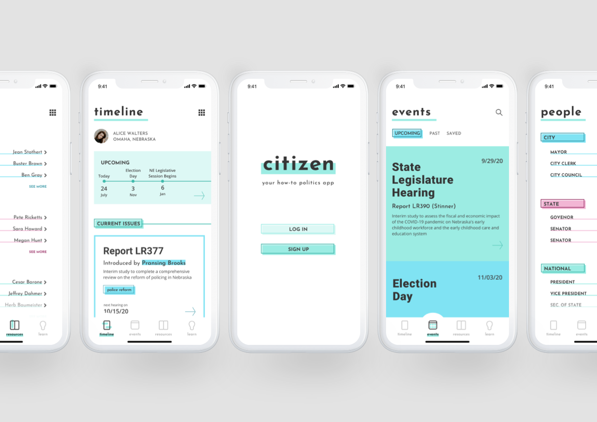 CITIZEN | Political Reference App for iOS + Android - Design Case Study