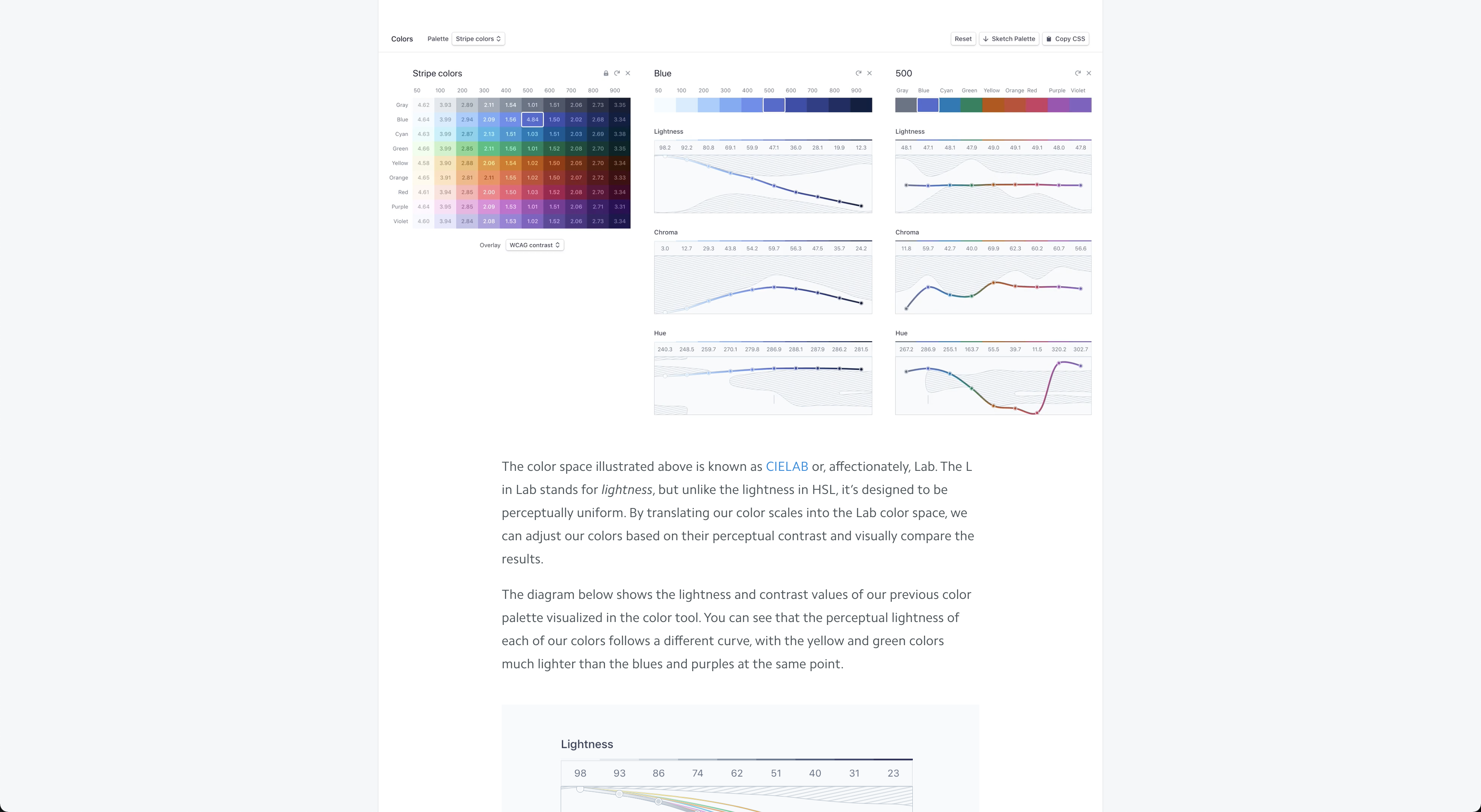 Designing accessible color systems at Stripe