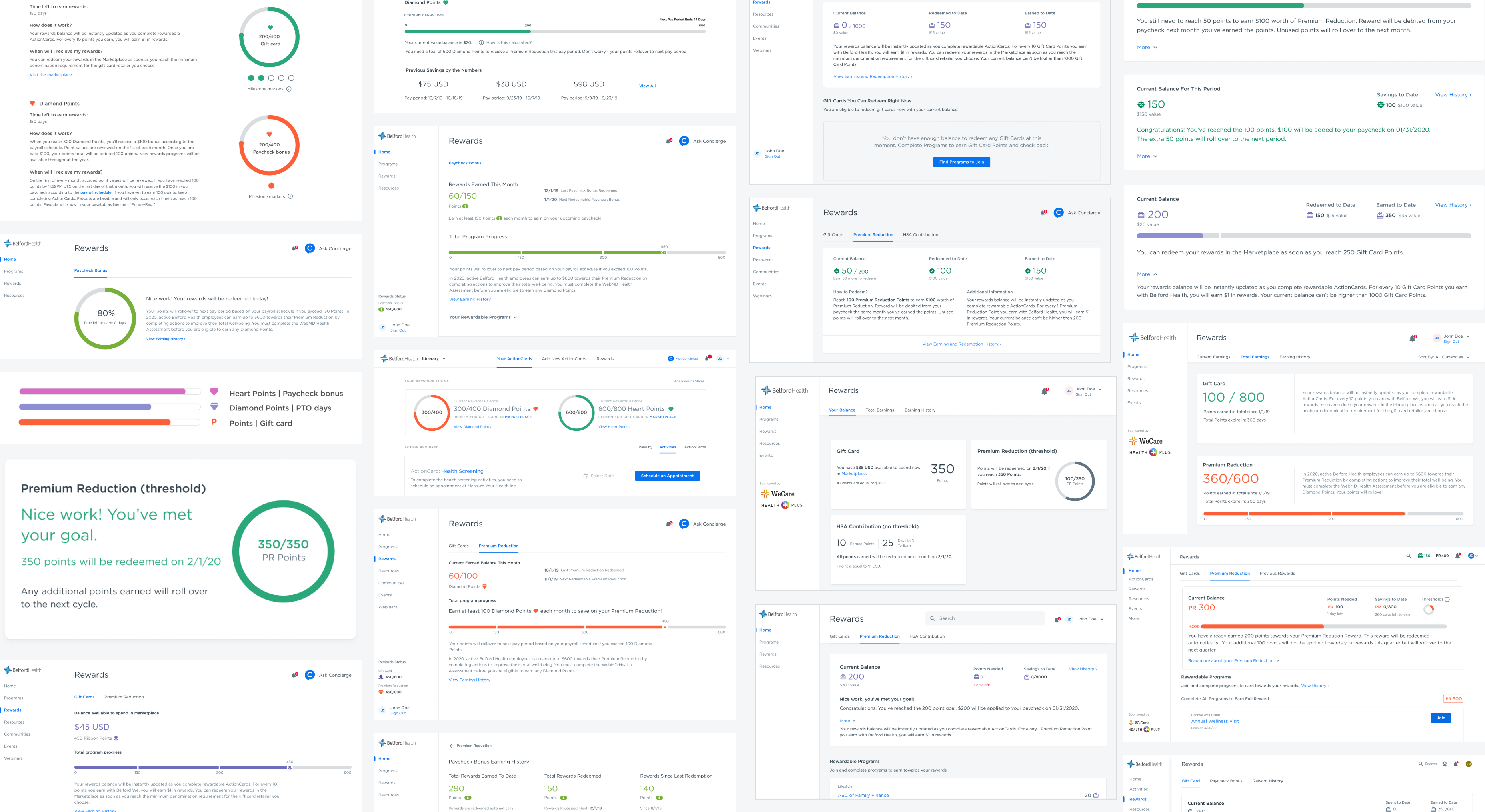 Explorations of the Rewards Dashboard in varying degrees of fidelity