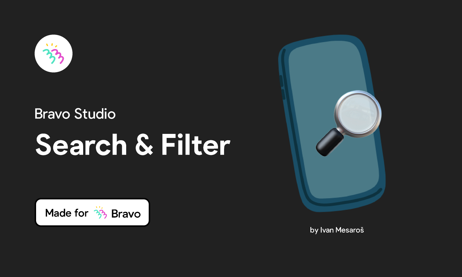 Figma - Bravo Sample: Search & filter | Made for Bravo Studio. Add a search bar in your Bravo app with this sample Figma file. The file ...