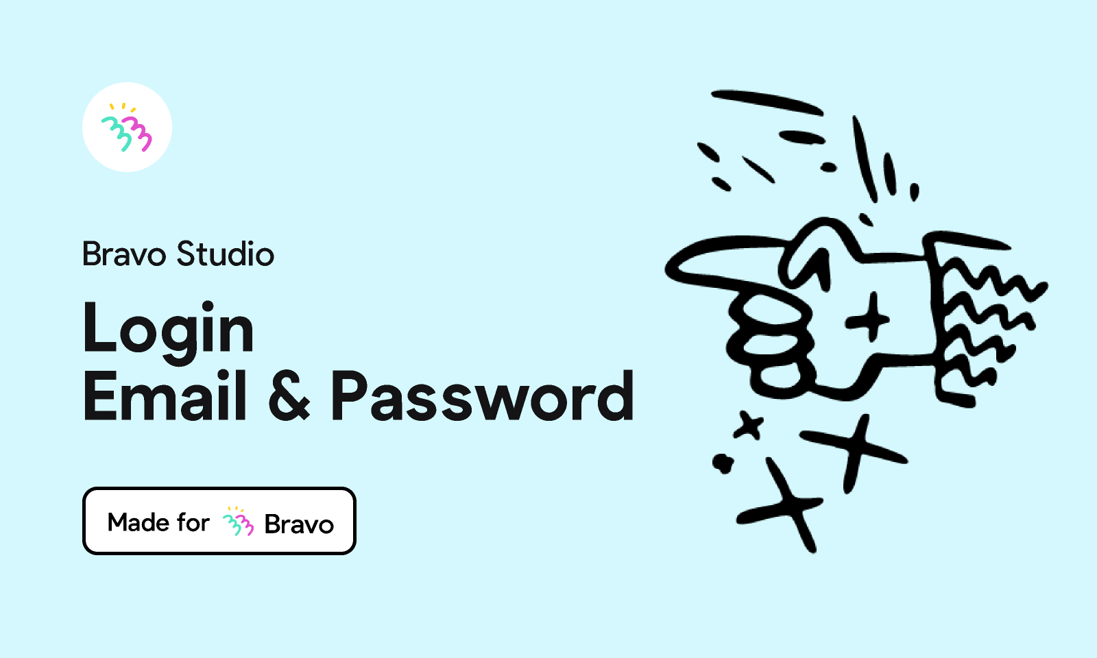 Figma - Bravo Sample: Login with email & password   Made for Bravo Studio. Add an email & password login page to your Bravo app with this sample ...