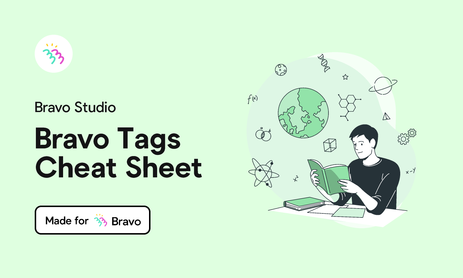 Figma - Bravo Tags Cheat Sheet | Made for Bravo Studio. All of the Bravo Tags in one place! The file includes layers named with B...