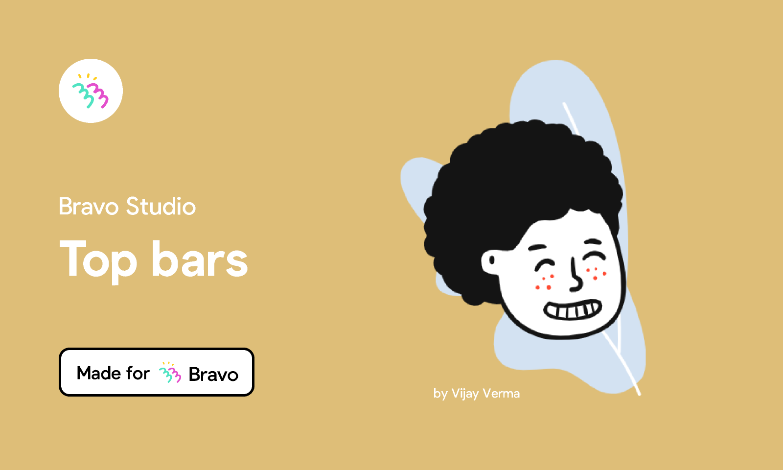 Figma - Bravo Sample: Top Bars | Made for Bravo Studio. Choose between these three top bar behaviours for your Bravo app with this...