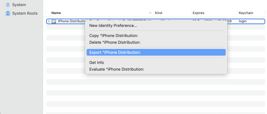 If you don't see the Export option, try unselecting the folder and selecting it again.