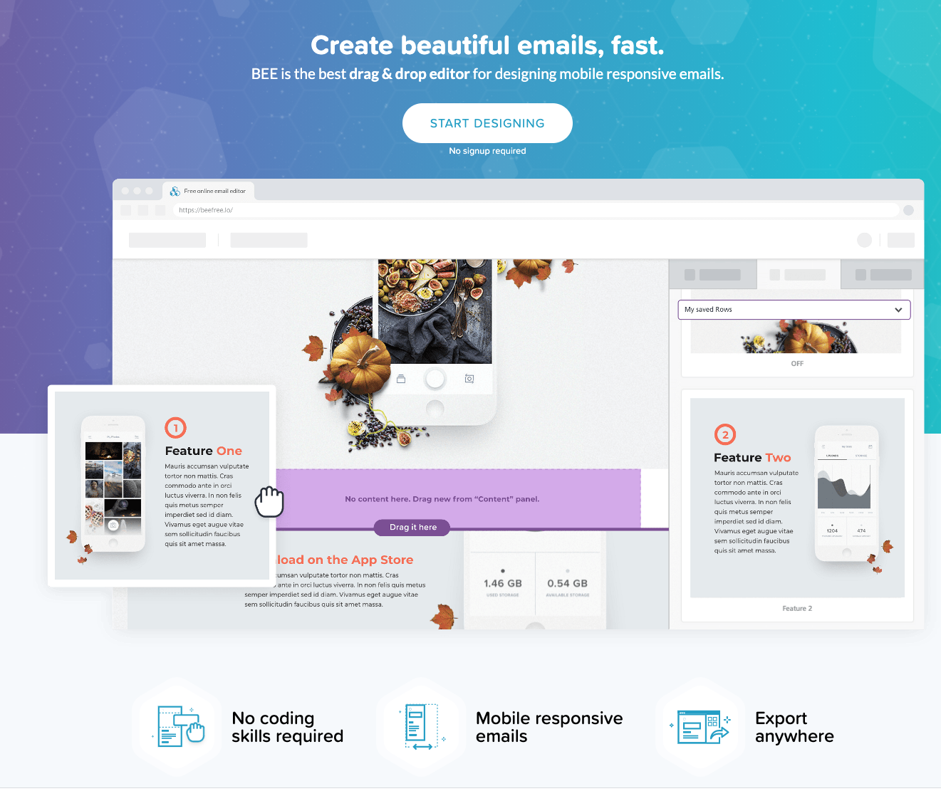 BeeFree Email Template Editor