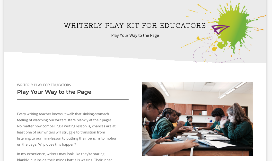 WP Kit 002 - Play Your Way to the Page