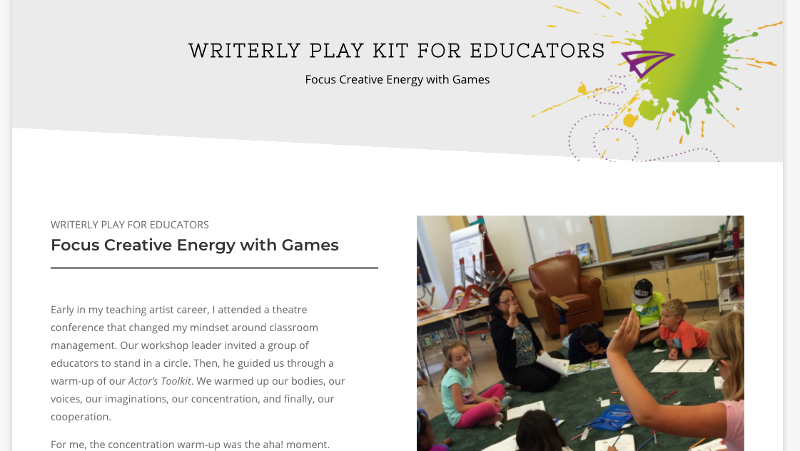 WP Kit 003 - Focus Creative Energy with Games