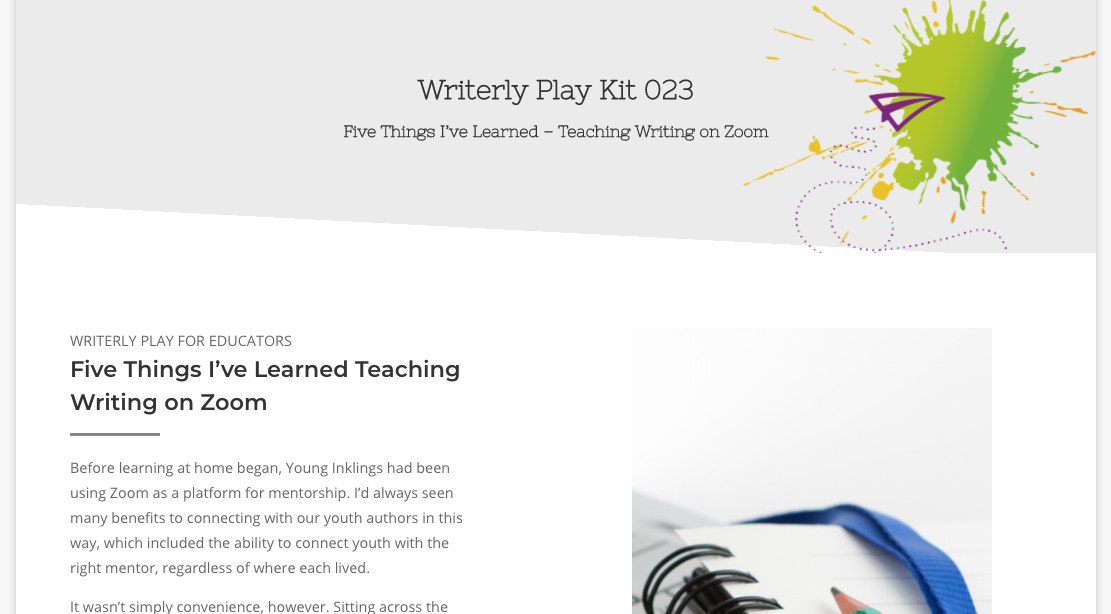 WP Kit 023 - Five Things I've Learned Teaching Writing on Zoom