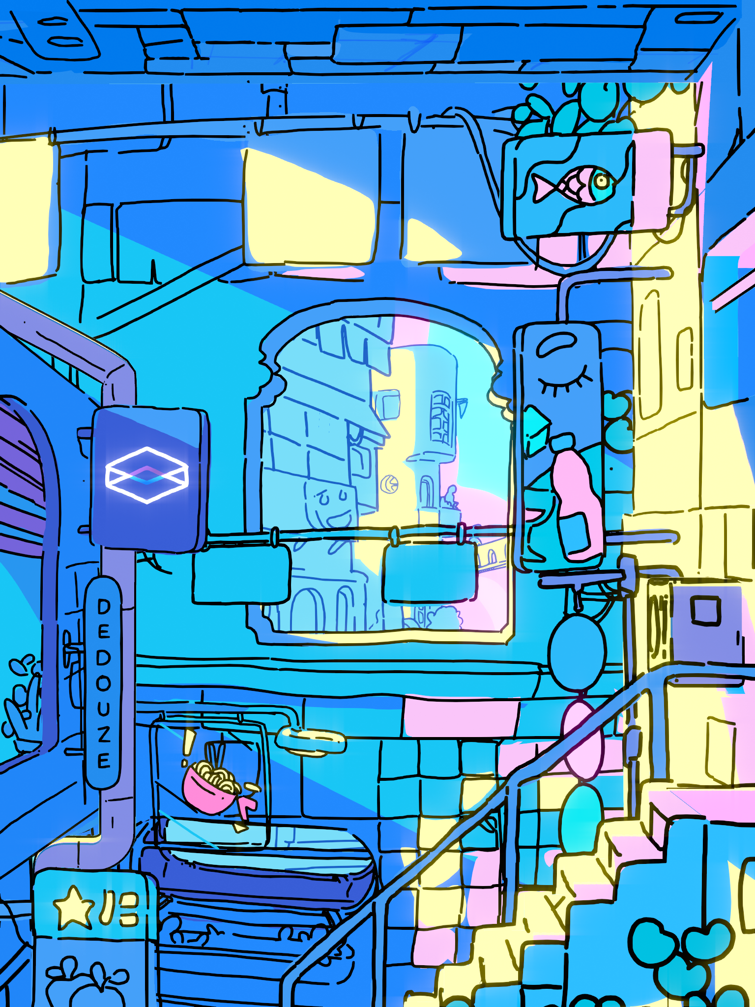 Looking Glass Cityscape